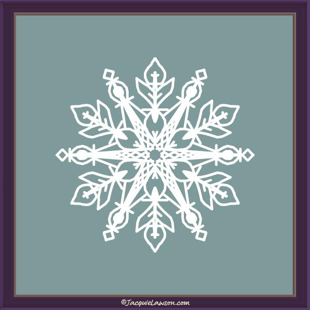 snowflake_90 © JacquieLawson.com | #JLAdventCalendar